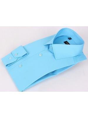 Рубашка Hans Grubber. Цвет: голубой