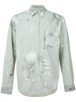 Рубашка в полоску NSF. Цвет: белый
