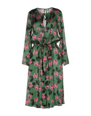 Платье длиной 3/4 SOUVENIR. Цвет: зеленый