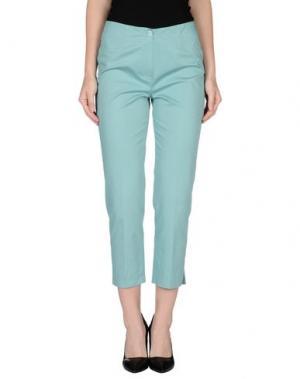 Повседневные брюки METRADAMO. Цвет: бирюзовый