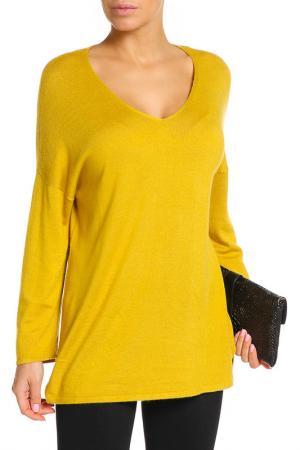 Пуловер UNQ. Цвет: желтый