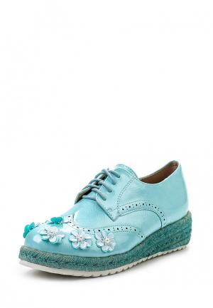 Ботинки Catisa. Цвет: голубой