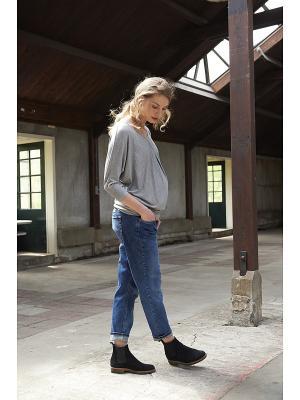 Свободные джинсы бойфренда Queen Mum. Цвет: голубой