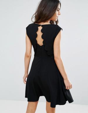 Louche Платье с фигурными краями на спине Elaine. Цвет: черный
