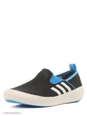 Слипоны Adidas. Цвет: черный, синий