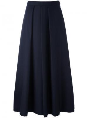 Укороченные брюки-палаццо Blue Japan. Цвет: синий