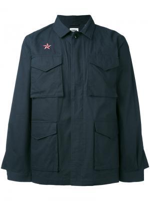 Куртка-рубашка Edwin. Цвет: синий