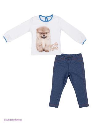 Комплекты одежды Апрель. Цвет: голубой, бежевый, белый