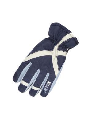 Перчатки HERMAN. Цвет: синий