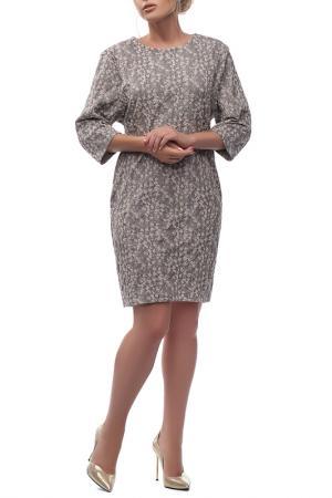Платье Петербургский Швейный Дом. Цвет: серый, розовый