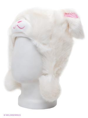 Шапка True Fur. Цвет: молочный, розовый