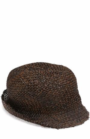 Соломенная шляпа Isabel Benenato. Цвет: черный