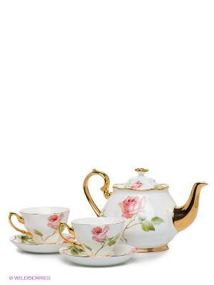 Чайный набор Итальянская роза Pavone. Цвет: белый, зеленый, розовый