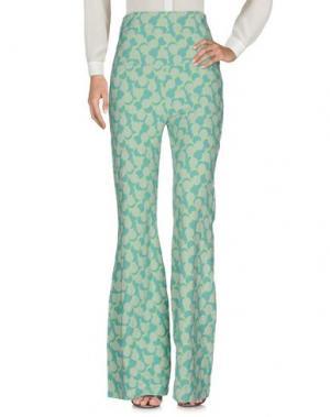Повседневные брюки SUCRETTE. Цвет: светло-зеленый