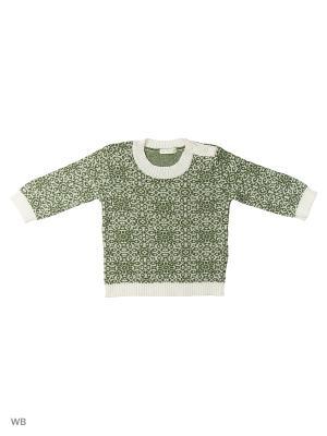 Джемпер United Colors of Benetton. Цвет: серо-зеленый, белый