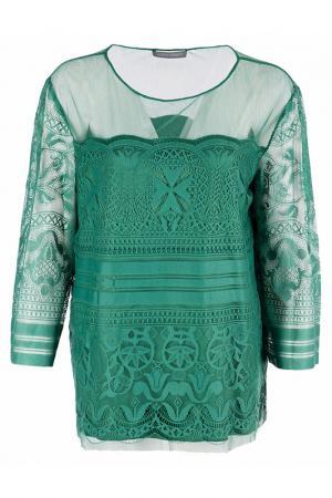 Блуза Alberta Ferretti. Цвет: зеленый