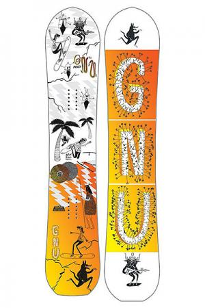 Сноуборд  Money C2E None GNU. Цвет: оранжевый,белый