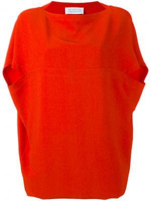 Платье с открытыми плечами Gianluca Capannolo. Цвет: красный