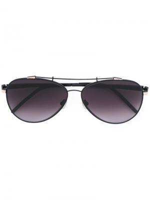 Солнцезащитные очки Combustion 7 Sama Eyewear. Цвет: чёрный