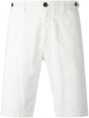 Одноцветные шорты Eleventy. Цвет: белый