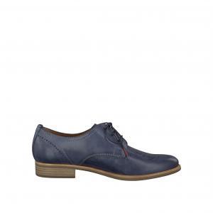 Ботинки-дерби кожаные 23206-28 TAMARIS. Цвет: синий деним