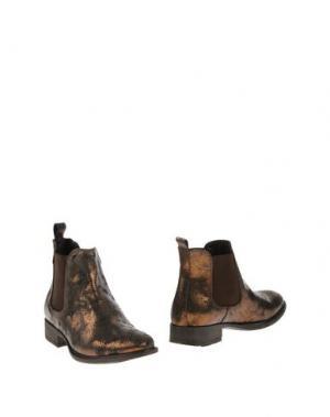 Полусапоги и высокие ботинки PIAMPIANI. Цвет: бронзовый