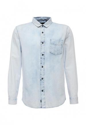 Рубашка джинсовая Globe. Цвет: голубой