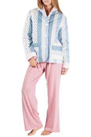 Комплект домашний MONNA MURR. Цвет: розово-голубой
