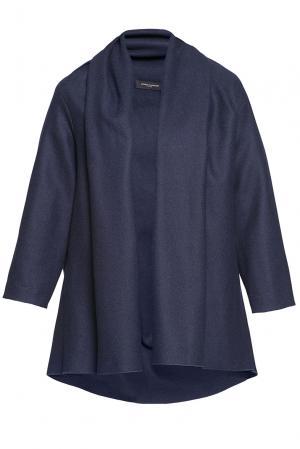 Кардиган из искусственного шелка и шерсти 184158 Cyrille Gassiline. Цвет: синий