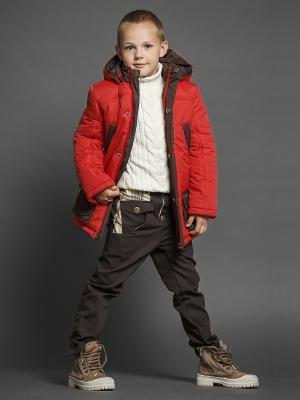 Куртка ЕМАЕ. Цвет: красный