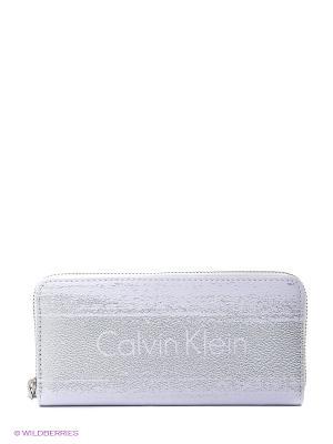 Кошелек Calvin Klein. Цвет: белый, серый