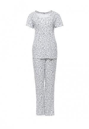 Пижама NYMOS. Цвет: белый