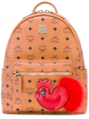 Рюкзак с принтом-логотипом MCM. Цвет: коричневый