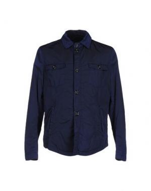 Куртка HEVÒ. Цвет: темно-синий