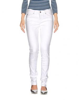 Джинсовые брюки 40BLUES. Цвет: белый