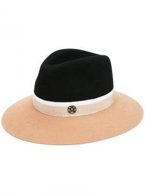 Шляпа с контрастными полями Maison Michel. Цвет: телесный