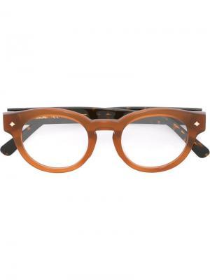Оптические очки в круглой оправе MCM. Цвет: коричневый