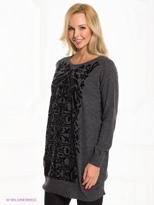 Платье Rene Derhy. Цвет: темно-серый, черный