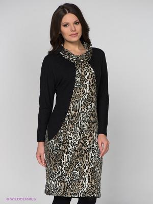 Платье МадаМ Т. Цвет: черный, бежевый, белый