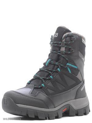 Ботинки SHOES CHALTEN TS CSWP W SALOMON. Цвет: антрацитовый, серый