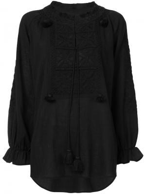 Блузка Lou Figue. Цвет: чёрный