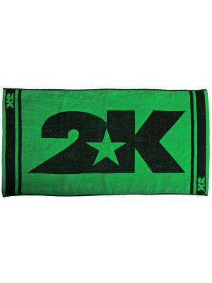 Полотенце махровое 2K. Цвет: зеленый, черный