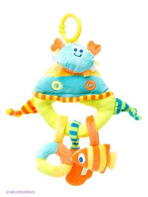 Развивающая игрушка подвеска Крабик Amico. Цвет: желтый, синий, салатовый, голубой, оранжевый