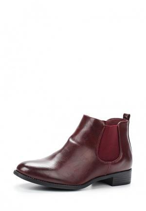 Ботинки Anesia. Цвет: бордовый