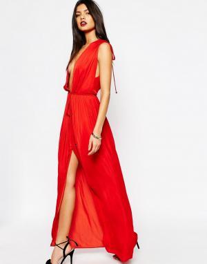 Bec & Bridge Платье макси Casablanca. Цвет: красный