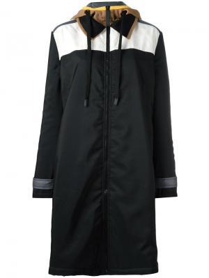 Пальто на молнии с капюшоном No Ka Oi Ka'. Цвет: чёрный