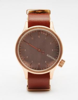 Komono Коричневые часы One. Цвет: коричневый