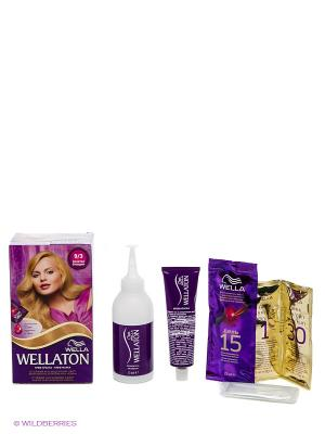 Крем-краска для волос 9/3 Золотой блондин WELLATON. Цвет: бежевый
