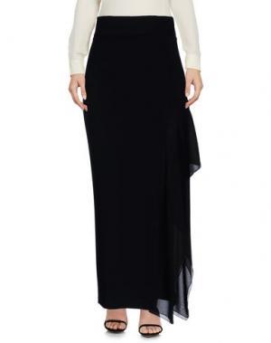 Длинная юбка DENNY ROSE. Цвет: черный