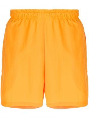 Side-stripe track shorts Gosha Rubchinskiy. Цвет: жёлтый и оранжевый